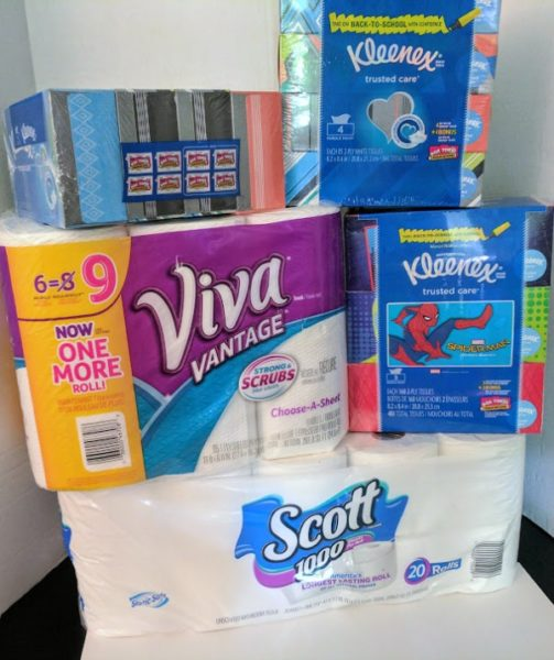 Paper goods with double Box Tops for school supplies