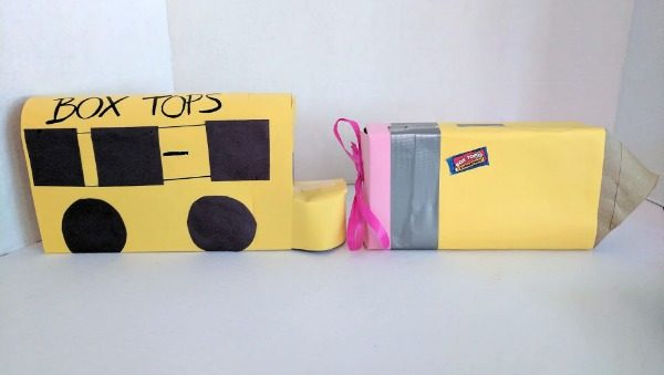 Make cute Box Tops holders using old tissue boxes