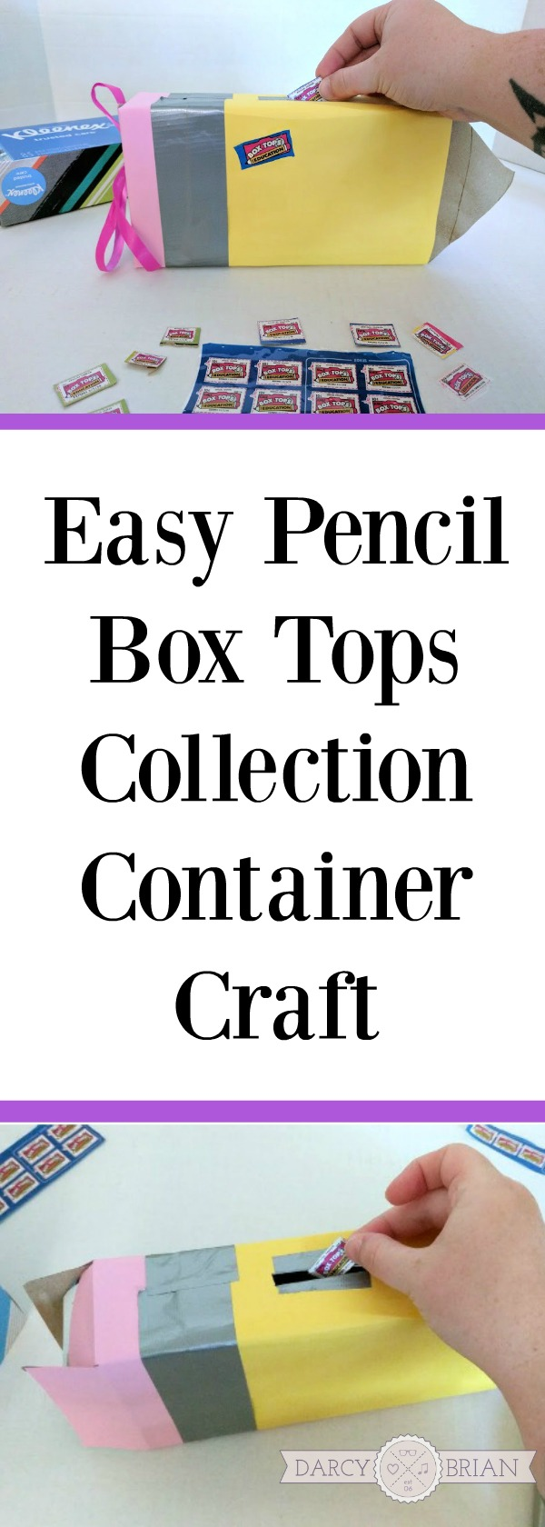 Love this cute tissue box craft! Make this fun and easy pencil shaped Box Tops collection container for home or school. It's an easy DIY to help hold onto Box Tops for Education to turn into the school. Great way to support your school while stocking up on back to school supplies. AD #BoxTopsHero #CollectiveBias