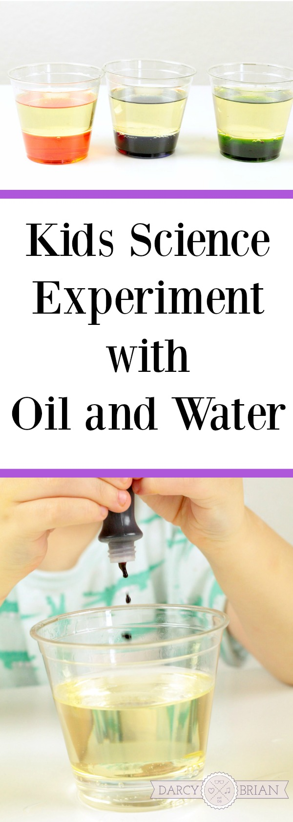 Looking for fun kids activities? Try this easy Kids Science Experiment and have fun teaching your kids! Our Oil and Water Color Changing Lab is going to be a hit with your children. It's a great activity to introduce scientific concepts to preschool and kindergarten age children and even first graders or second graders.