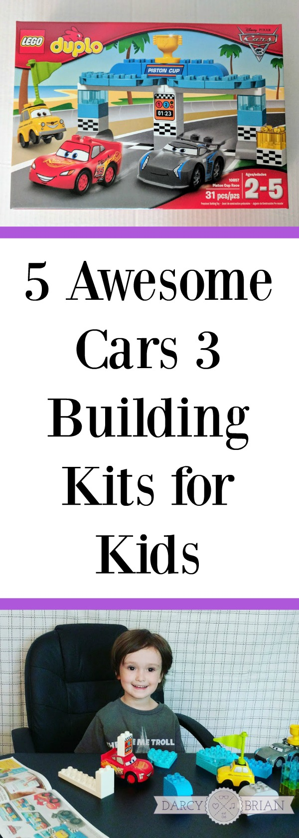 These Cars 3 toys are so fun! Are you shopping for a little boy or a little girl who loves to build with LEGO? These Cars 3 building kits are perfect for kids who love the Disney Pixar Cars movies. They also make great educational gifts for kids birthdays and Christmas presents. Save this list for your holiday shopping!