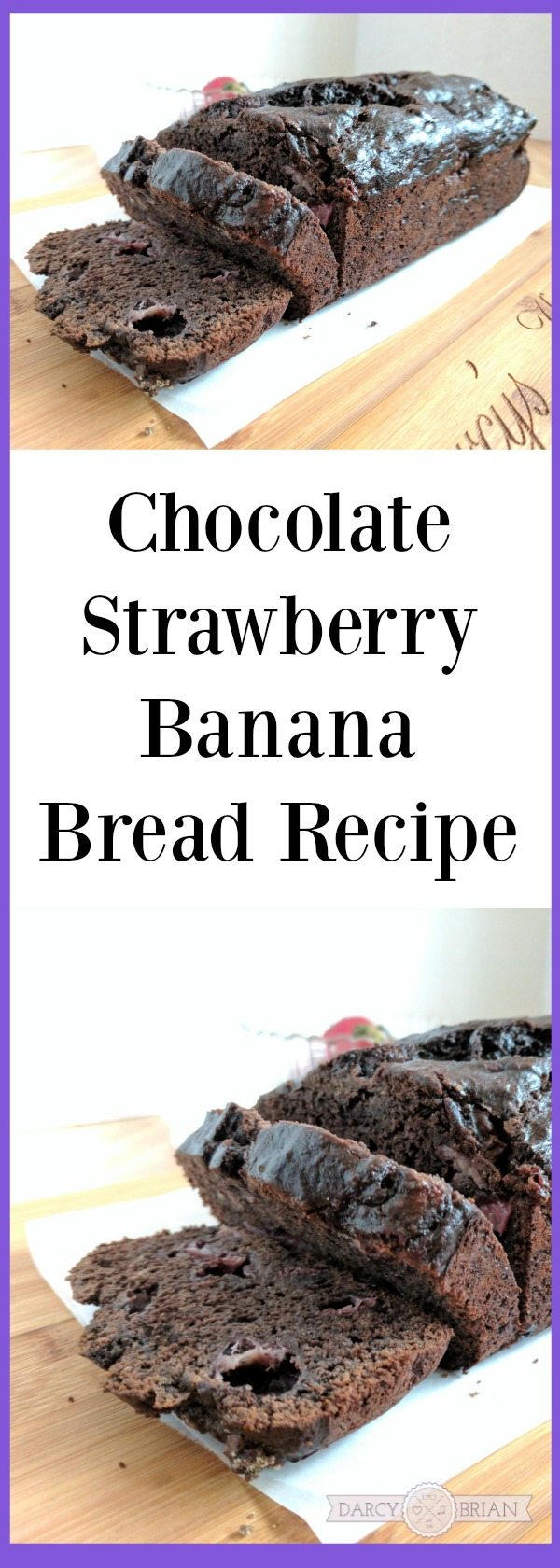 Looking for a deliciously easy breakfast treat? Try making this Chocolate Strawberry Banana Bread recipe while also learning about Heifer's School Milk Feeding Program (AD).