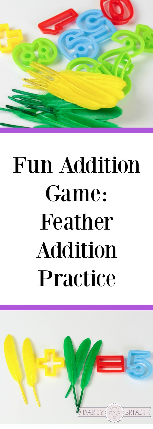 Looking for fall or Thanksgiving themed math activities for kids? This Fun Feather Addition Game is a great way to combine the season and learning! Check out our tips for how to use common items to teach your children! #math #kidsactivities #homeschool #addition