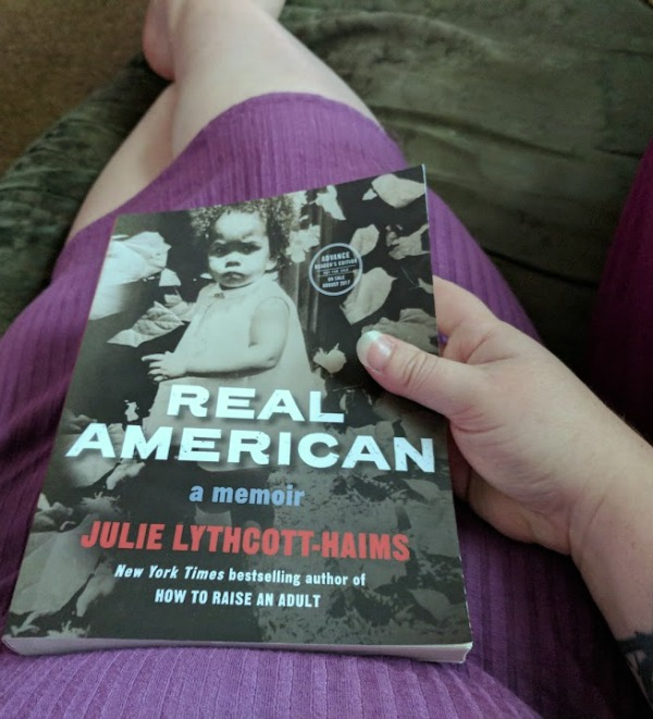 Book review of REAL AMERICA: A Memoir by Julie Lythcott-Haims and why this mom thinks it's an important book for everyone to read about racism and self-love. #RealAmericanMemoir #CLVR [AD]