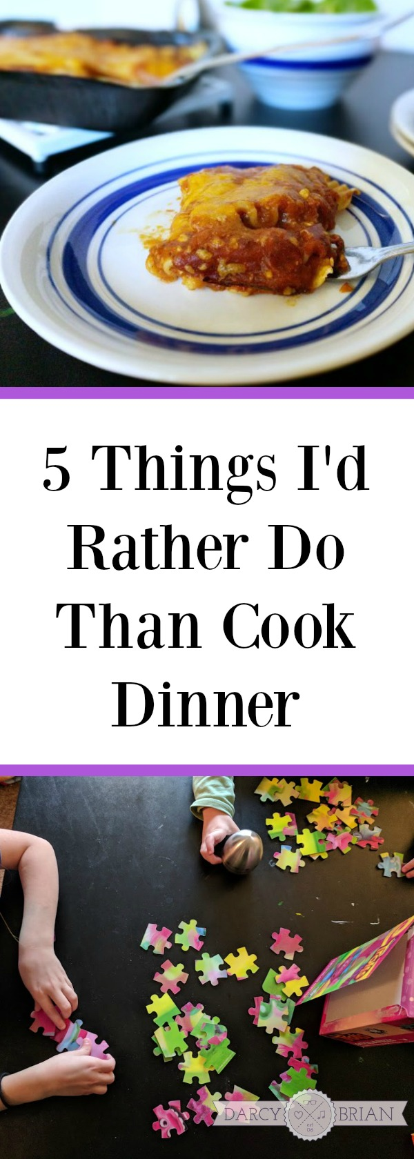 [AD] Some days are too busy to spend a lot of time in the kitchen cooking dinner. Here are 5 Things I'd Rather Do Than Cook Dinner plus an easy meal solution when you have one of those crazy busy nights. #CountOnCor #OvenTimeTips