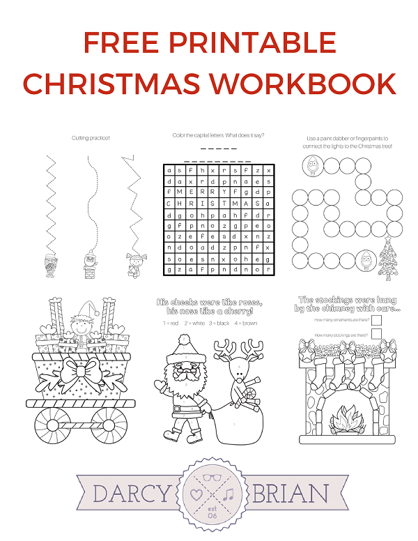 photo relating to Free Printable Christmas Games for Adults named Printable Xmas Game titles Coloring Workbook for Small children