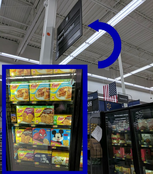 Where to find Eggo waffles and pancakes at Walmart