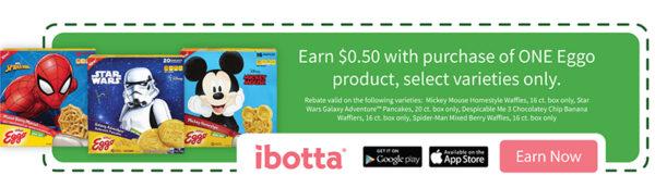 Ibotta offer for Eggo waffles and pancakes