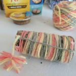 DIY Yarn wrapped catnip toy tutorial