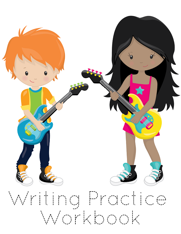 No prep sight words writing practice workbook! This printable workbook includes 10 pages with traceable sight words and rock star themed coloring pages. Perfect for homeschool and classroom writing centers and for at home reading and writing practice.