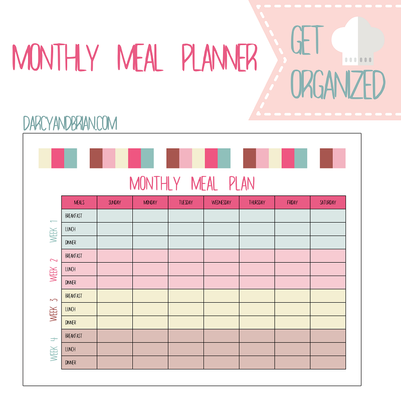 picture regarding Meal Planning Printable named Free of charge Weekly and Regular Dinner Designing Printables