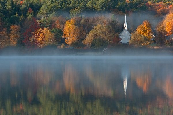 Little White Church Lake Eaton - image via Unsplash