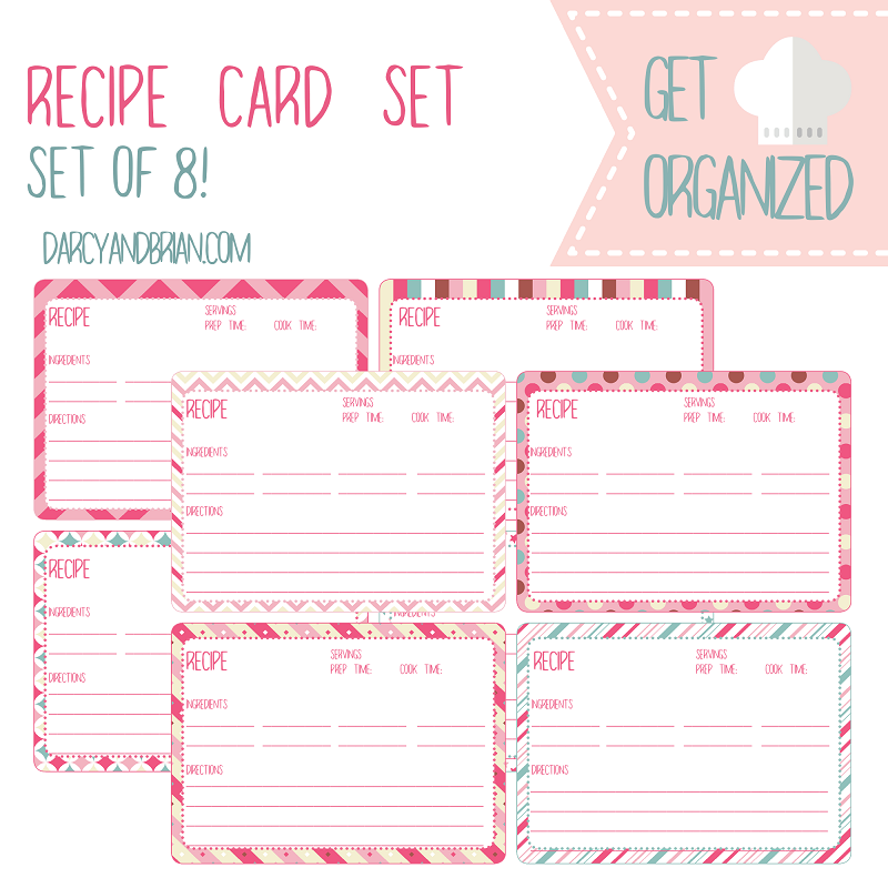 Save your favorite recipes with this free printable recipe card set