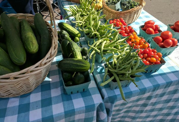 Locally grown produce at Janesville Farmers Market