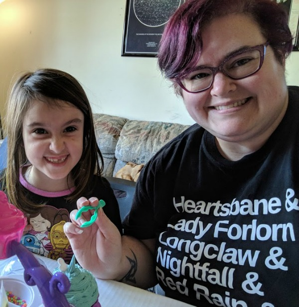 Darcy and her daughter spending quality time together crafting with Sweetlings.