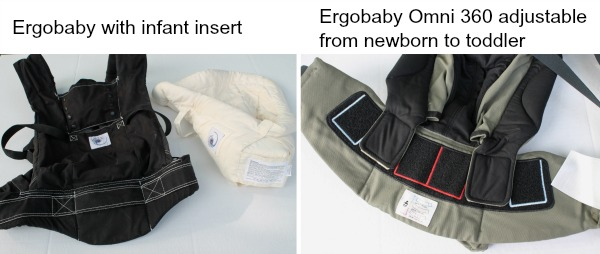 Comparing older Ergobaby with Omni 360 baby carrier