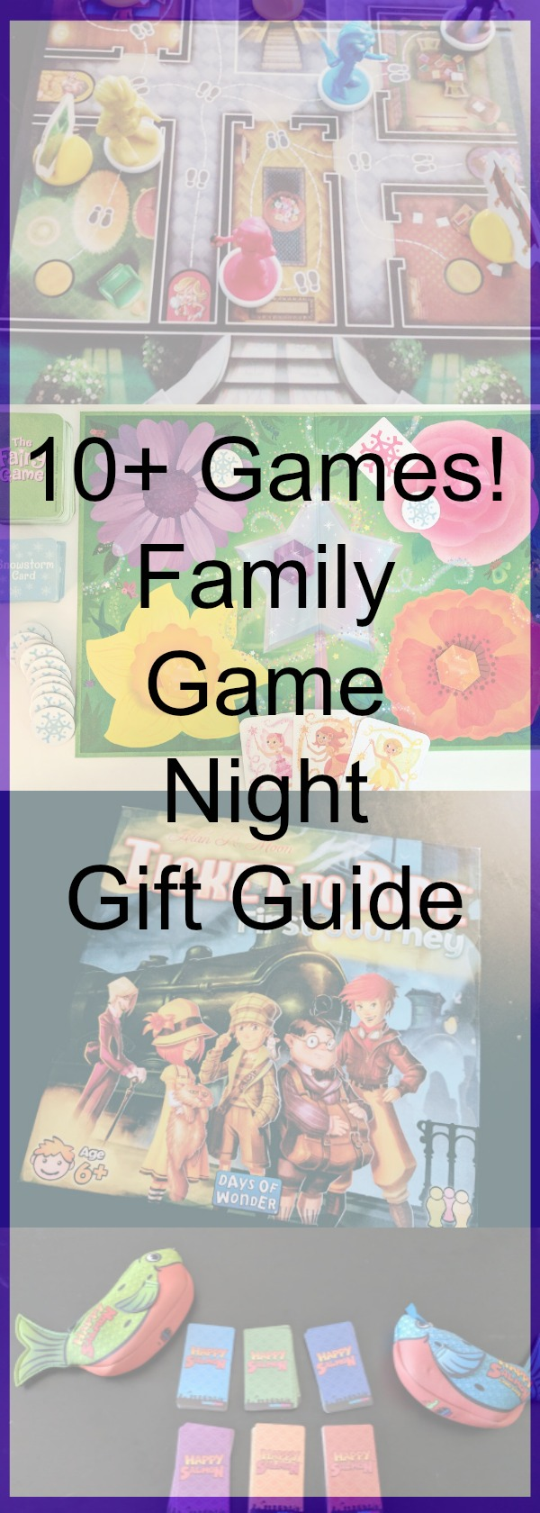 Add one or more of these fun board games and card games to your family game night. Have a blast playing and bonding with your kids. These are all family friendly and great to play with kids - especially the cooperative board games! #gamenight #boardgames #giftguide