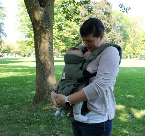 Babywearing with Ergobaby Omni 360 baby carrier