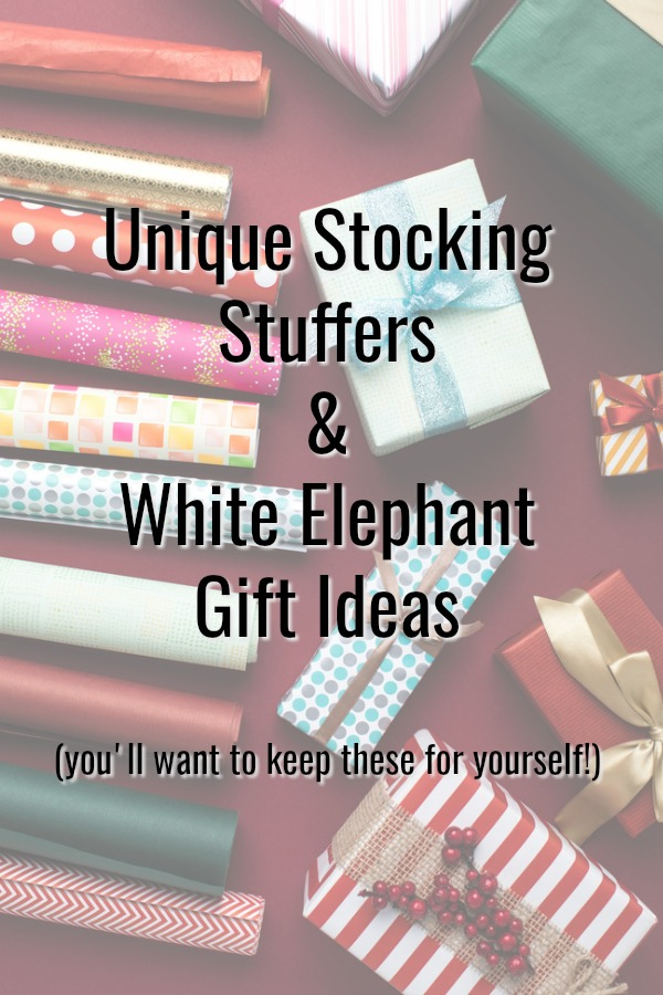 Unique white elephant gift ideas life with darcy and brian looking for unique stocking stuffers for christmas or fun white elephant gift solutioingenieria Images
