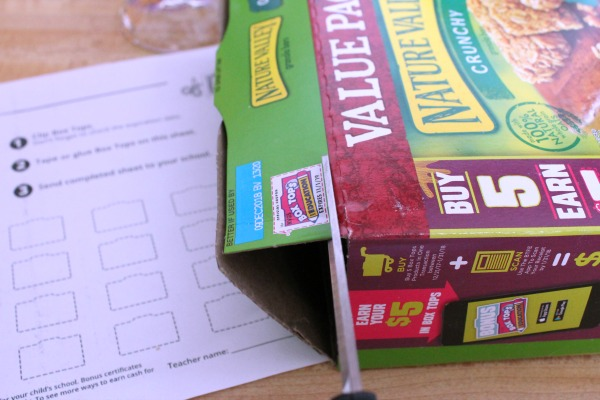 Clipping and collecting Box Tops for Education