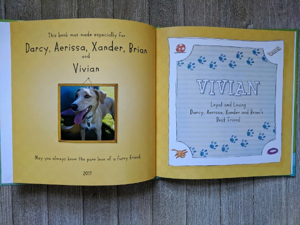 Personalized book for dog lovers