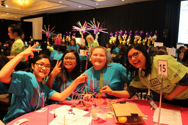 Society of Women engineering event for girls