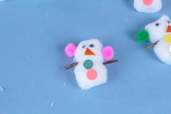 how to make snowman with cotton