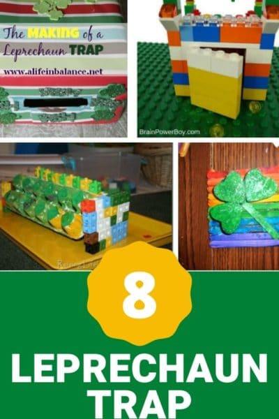 Leprechaun trap craft idea collage with text overlay.