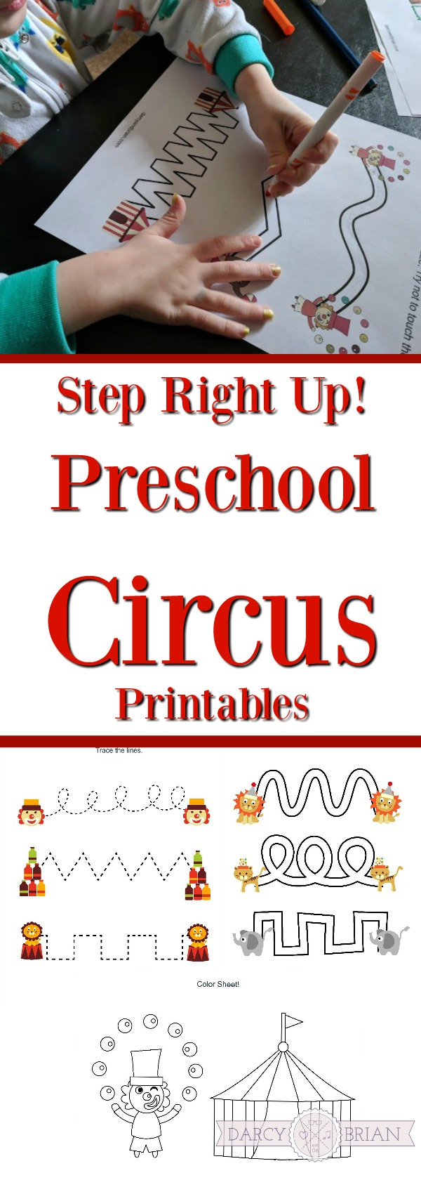 Come one, come all and grab these free Preschool Circus Printables! This circus themed printable pack features cutting, tracing, and coloring activities. Perfect for practicing preschool skills! Use them for homeschooling or classroom centers.