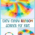 Looking for a fun and easy science experiment for kids? Use candy to conduct science experiments with kids at home or in the classroom. They will have fun making patterns and watching the colors. This activity is perfect for preschool children!