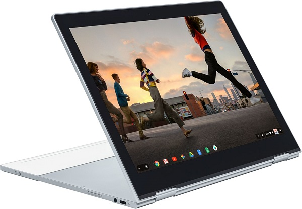 Google Pixelbook laptop versatile design allows you to move the screen how you need it for work or watching movies.