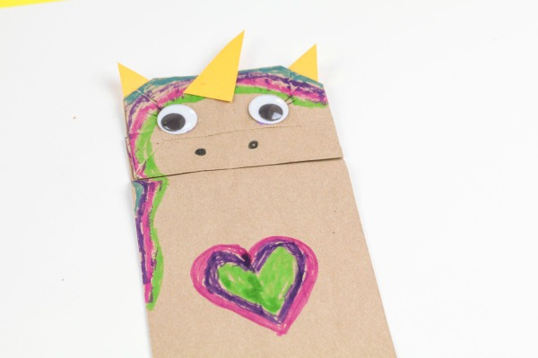 Unicorn Paper Bag Craft Tutorial