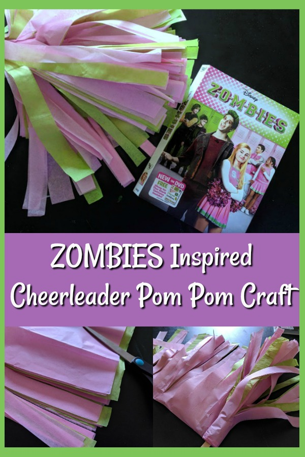 AD: Make this Disney Channel's ZOMBIES Inspired DIY Cheerleading Pom Pom Craft and cheer on Zed and Addison while watching the movie. Or use it when practicing the dances while listening to the soundtrack. Fun tissue paper craft for kids!