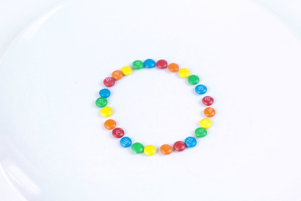 Candy rainbow science experiment tutorial