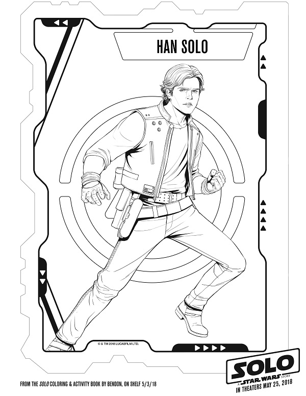 han solo coloring page solo a star wars story printable coloring pages