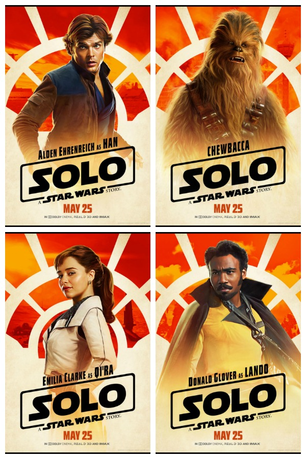Han Solo movie one sheet poster collage
