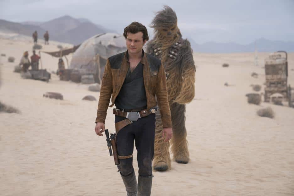 Han Solo and Chewbacca in Solo: A Star Wars Story movie