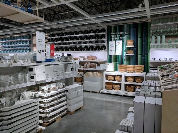 Shopping in the IKEA market