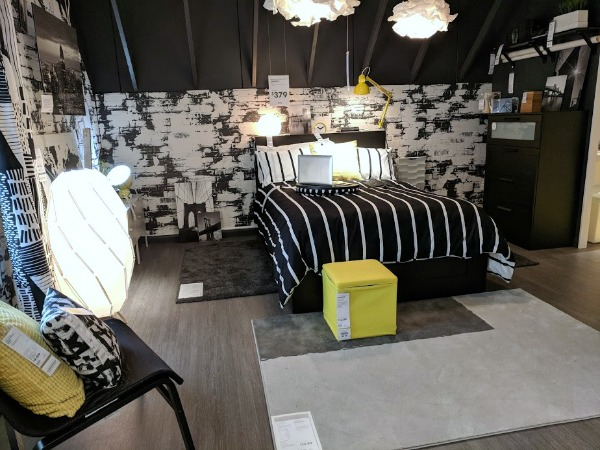Beautifully styled bedroom in IKEA Oak Creek showroom