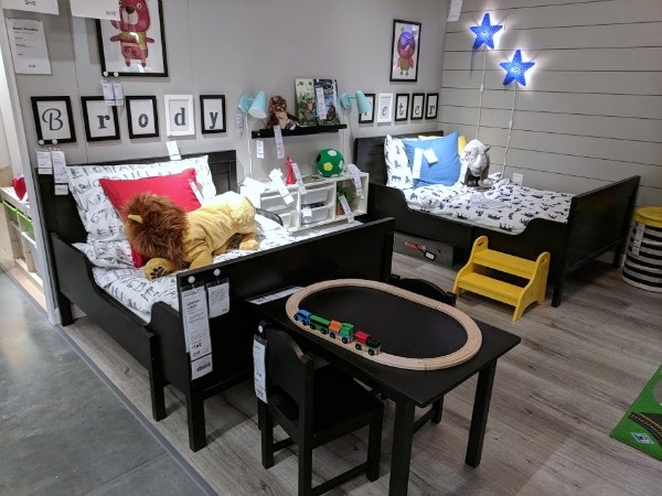 Kids bedroom showroom at IKEA Oak Creek Wisconsin