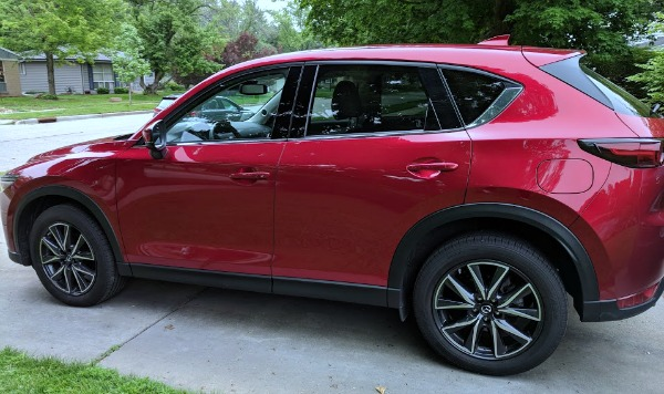 Exterior of the 2018 Mazda CX-5 Grand Touring before taking a road trip.