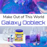 Looking for a fun kids activity? Kids will LOVE making galaxy oobleck for an out of this world hands-on science experiment. It's fun to play with and will keep kids busy, especially if they are stuck inside on a rainy day. Perfect for homeschool and classroom science centers!