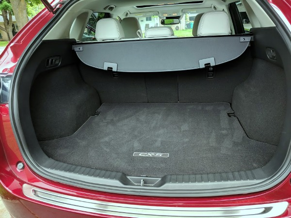 Trunk space of the 2018 Mazda CX-5 Grand Touring.