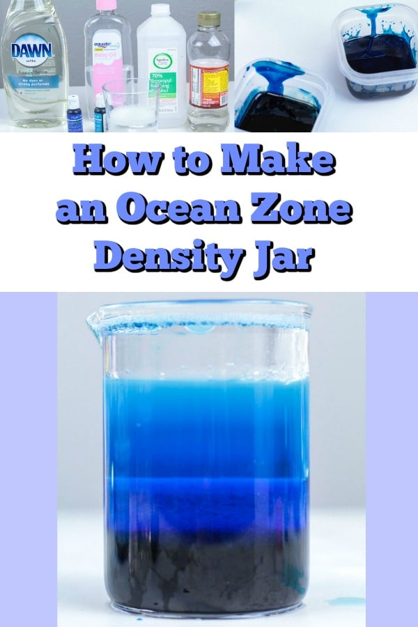 This ocean zone density jar science activity is a fun and engaging way to teach kids about the ocean layers. It's a great visual, allowing them to see the difference between ocean zones.