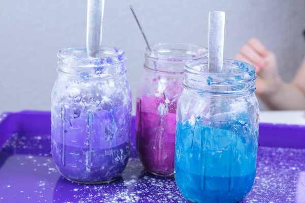 Learn how to make this galaxy oobleck for a fun activity with the kids.