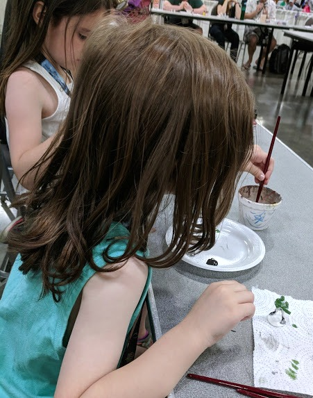 The kids painting minis at Origins Game Fair