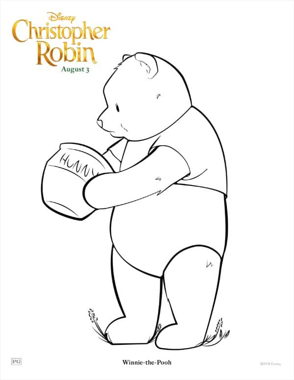 Printable Winnie the Pooh coloring page