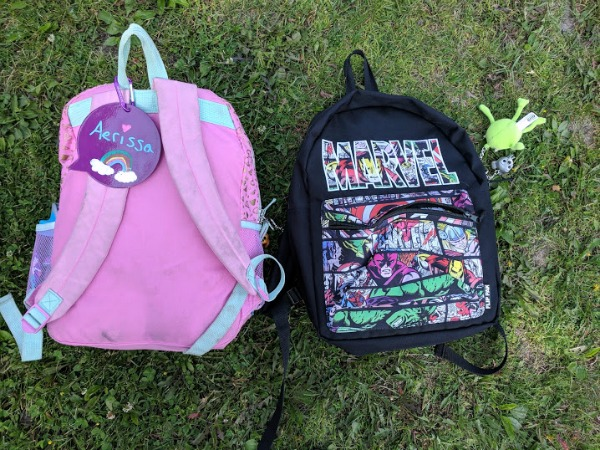 Backpack accessories on kids school bags
