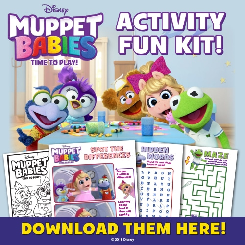 Free printable activities for Muppet Babies