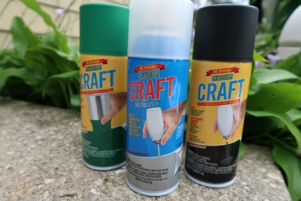 Plasti Dip Craft cans used for project